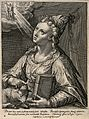 The Erythraean sibyl. Engraving by C. de Passe II after C. d Wellcome V0035888.jpg