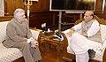 The Governor of Kerala, Shri Justice (Retd) P. Sathasivam calling on the Union Home Minister, Shri Rajnath Singh, in New Delhi on August 28, 2017.jpg