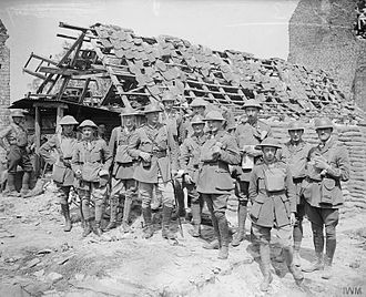 Suffolk Yeomanry - Headquarters officers of the 15th (Suffolk Yeomanry) Battalion, Suffolk Regiment, 74th (Yeomanry) Division. Near Carvin 14 August 1918. The battalion was formerly known as the 1/1st Duke of Yorks Own Loyal Suffolk Hussars.