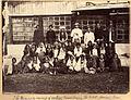The Manager & group of coolies, Manabarrie Tea Estate, Dooars, Terai, an albumen photo, 1880's.jpg
