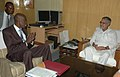 The Minister of Rural Development, Congo, Mr. Safi Adiki meeting the Union Minister for Rural Development and Panchayati Raj, Shri C.P. Joshi, in New Delhi on October 05, 2009.jpg