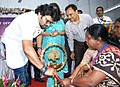 The Minister of State for Heavy Industries & Public Enterprises, Shri Babul Supriyo lighting the lamp to inaugurate the first ever Post Office Passport Seva Kendra, at Asansol Post Office, West Bengal on February 28, 2017.jpg