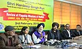 The Minister of State for Housing and Urban Affairs (IC), Shri Hardeep Singh Puri addressing a press conference after the review meeting of the implementation of urban schemes in Punjab, Haryana and Chandigarh, at Chandigarh.jpg