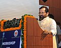 The Minister of State for Minority Affairs (Independent Charge) and Parliamentary Affairs, Shri Mukhtar Abbas Naqvi addressing a workshop of inspecting authorities of Maulana Azad Education Foundation, in New Delhi.jpg