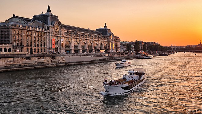 Musee d'Orsay The Musee dOrsay at sunset, Paris July 2013.jpg