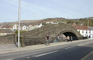 Old Bridge, Pontypridd - The Old Bridge with steps ascending the bridge