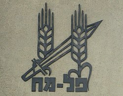 The Palmach emblem in Harel brigade memorial in Radar Hill cropped.jpg