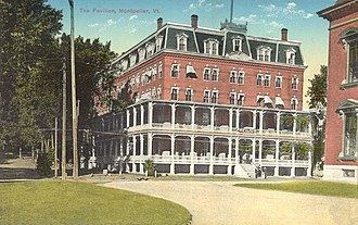 The Pavilion (Vermont) - The Pavilion in a 1915 post card.