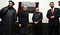 """The Prime Minister, Shri Narendra Modi and the President of Afghanistan, Dr. Mohammad Ashraf Ghani unveiled the """"Atal Block"""" in the Parliament Complex of Afghanistan, in Kabul on December 25, 2015 (1).jpg"""