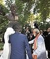 The Prime Minister, Shri Narendra Modi and the President of Tajikistan, Mr. Emomali Rahmon unveiling the bust of Gurudev Rabindranath Tagore, at Bukhoro Square, in Dushanbe, Tajikistan on July 13, 2015.jpg