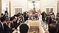 The Prime Minister, Shri Narendra Modi and the President of the Republic of South Korea, Mr. Moon Jae-in at the India-ROK CEO's Roundtable meeting, at Hyderabad House, in New Delhi on July 10, 2018.JPG
