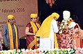 The Prime Minister, Shri Narendra Modi paying homage to Pandit Madan Mohan Malaviya, at the Centenary Year Convocation of the Banaras Hindu University (BHU), in Varanasi.jpg