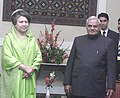 The Prime Minister of Bangladesh Begum Khaleda Zia called on the Prime Minister Shri Atal Bihari Vajpayee on the sideline of 12th SAARC Summit in Islamabad on January 5, 2004.jpg