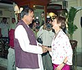The Secretary of State for Culture, Media and Sports of United Kingdom, Ms. Hon Tessa Jowell calling on the Minister of Youth Affairs & Sports, Shri Sunil Dutt in New Delhi on March 29, 2005.jpg