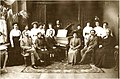 The Tiflis music school. In the centre the head of the school N. Nicolaev and the pianist Anna Thulashvili, 1910.JPG