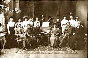 Tbilisi State Conservatoire - Staff of the conservatoire in 1910