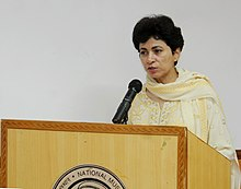 The Union Minister for Housing and Urban Poverty Alleviation and Culture, Kumari Selja addressing at a workshop on Vivekananda Memorial Programme for Museum Excellence.jpg