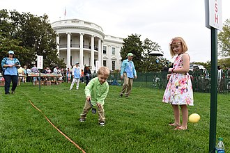 South Lawn (White House) - The 2017 Easter Egg Roll on the South Lawn