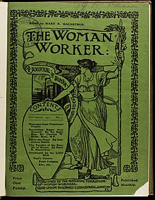Image of an issue of The Women Worker from 1907