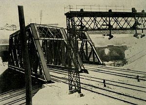 Long Dock Tunnel - The busiest tunnel point in the world in 1911, six Erie Railroad tracks below four Lackawanna tracks all emerging from tunnels under Bergen Hill