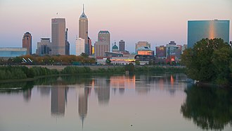 Indianapolis metropolitan area - Image: The city from Wapahani Trail (5071573814)