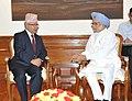 The former Prime Minister of Nepal, Shri Madhav Kumar Nepal calling on the Prime Minister, Dr. Manmohan Singh, in New Delhi on July 26, 2013.jpg