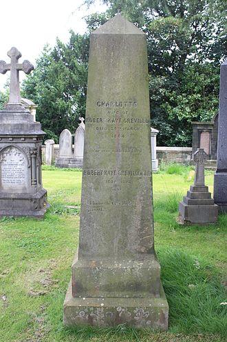 Robert Kaye Greville - The grave of Robert Kaye Greville, Dean Cemetery, Edinburgh