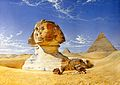 The great sphinx. Watercolour. Wellcome V0017602.jpg