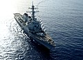 The guided missile destroyer USS Ramage (DDG 61) steams through the Mediterranean Sea April 9, 2014, in support of Noble Dina 2014 140409-N-CH661-389.jpg