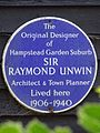 The original designer of Hampstead Garden Suburb Sir Raymond Unwin architect & town planner lived here 1906-1940.jpg