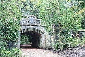 Warriston Cemetery - The railway bridge, Warriston Cemetery