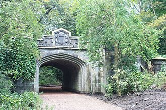 Warriston Cemetery - The railway bridge, Warriston Cemetery