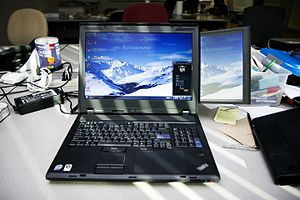 ThinkPad W Series - Lenovo W700ds with integrated secondary screen and Wacom digitizer.