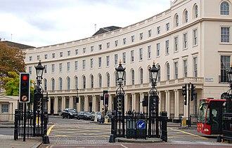 Park Crescent, London - The west façade of Park Crescent in 2009