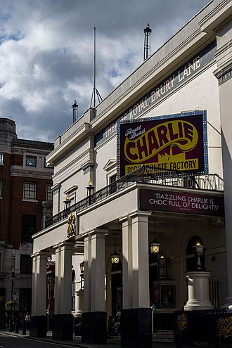 Charlie and the Chocolate Factory (musical) - Charlie and the Chocolate Factory bill boards at the Theatre Royal, Drury Lane in 2014.
