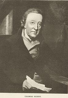 Thomas Henry (apothecary) Welsh surgeon and apothecary