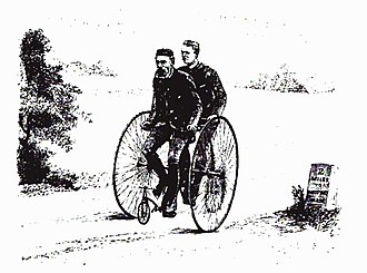 Elizabeth Robins Pennell - A Humber tandem tricycle, circa 1885