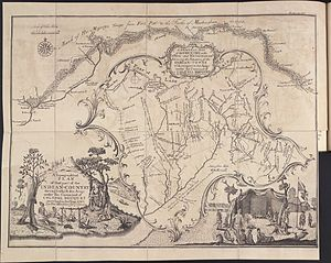 Siege of Fort Pitt - Thomas Hutchins Map of Henry Bouquet's 1764 Expedition