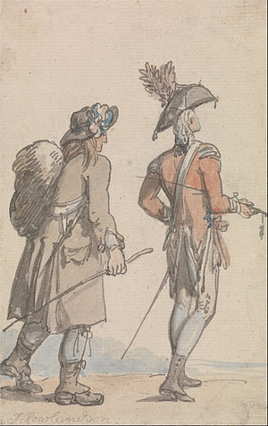 Thomas Rowlandson - An Officer and his Servant - Google Art Project