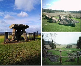 Medway Megaliths - Three of the Medway Megaliths: Kit's Coty House (left), Little Kit's Coty (above right), and the Coldrum Stones (below right).