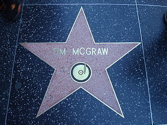 Tim McGraw - Tim McGraw's star on the Hollywood Walk of Fame