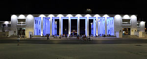 National Archaeological Museum, Tirana - View of the Museum at night
