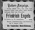 Todesanzeige - Barmer Zeitung - Friedrich Engels - 1895.jpg