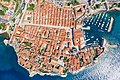 Top-down aerial view of the historical center of Dubrovnik, Croatia (48612648048).jpg