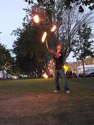 Torch (juggling) - Torch juggling in Salamanca, Tasmania