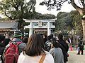 Torii and shimmon gate of Kasuga Shrine in Kasuga, Fukuoka 20170101.jpg