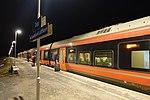 Torp train station, NSB shuttle bus to Sandefjord Lufthavn airport. Platform, night. 2019-03-20 D.jpg