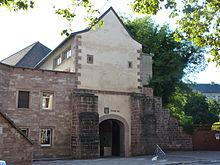 photographie de l'entrée de la Tour 46 de Belfort