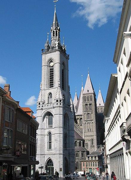 Tournai   (Belgium),  the oldest belfry of Belgium (XIIIth century).