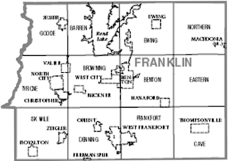 Franklin County, Illinois - Map of Franklin County, Illinois